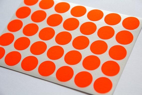 0 75 red neon sticker circle sticker paper circle etsy