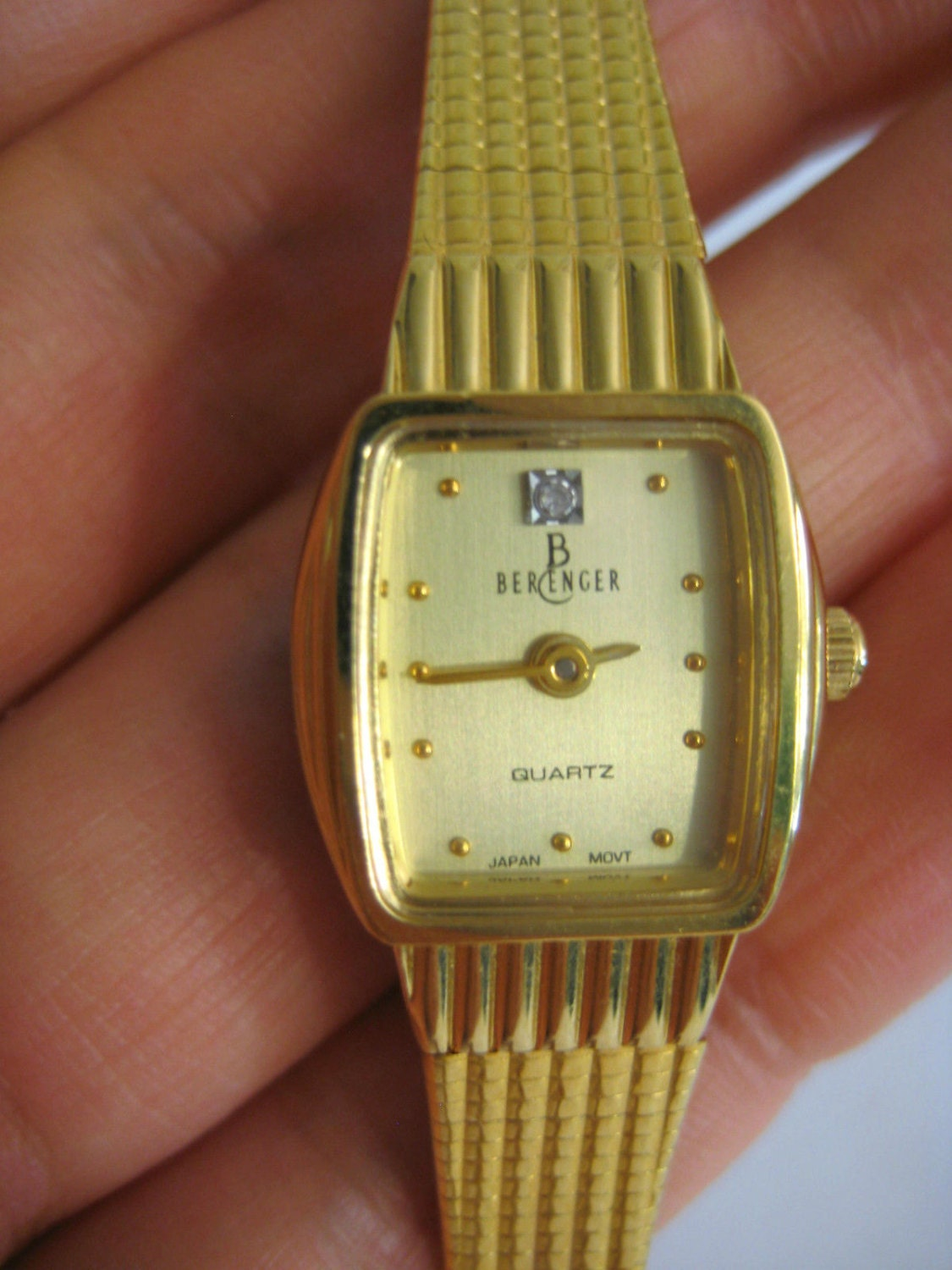 Berenger quartz Diamond lady\'s watch Japan movt. great