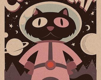 Cookie Cat print 11x17