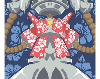 Space Dandy: Little Aloha Robot Print 11x17