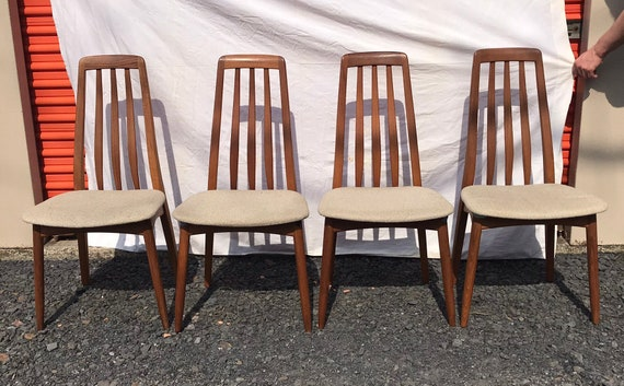 Excellent Vintage Mid Century Modern 4 Teak Wood Dining Chairs Matched Set Theyellowbook Wood Chair Design Ideas Theyellowbookinfo