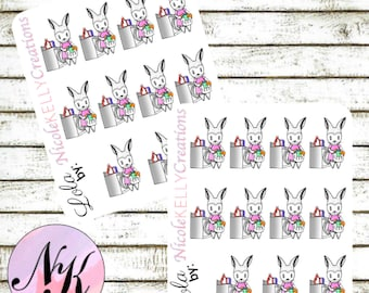 Exclusive custom character Stickers, 11 Stickers, laundry sticker, wash stickers, use with Erin Condren Planner(TM), Happy Planner,Planner