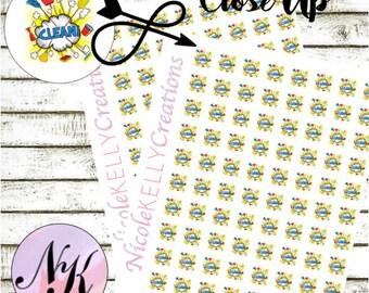 54 Cleaning Stickers, Stickers, clean, Cleaning sticker, use with Erin Condren Planner(TM), Happy Planner,planner,Travelers Notebook,sticker