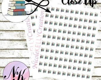 78 Stacked Books Sticker, Stickers, Book Sticker, Homework sticker, use with Erin Condren Planner(TM), Happy Planner, planner