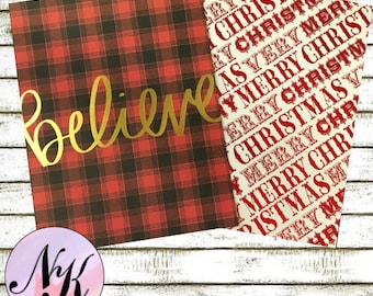 Holiday Cover, Christmas cover, quote cover, inspiration print, Framable art, use with Erin Condren Planner(TM), Happy Planner