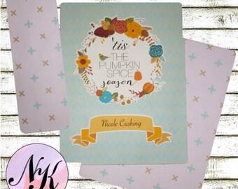 tis the pumpkin spice season Planner Cover,Planner Cover,inspiration print, Framable art, use with Erin Condren Planner(TM), Happy Planner