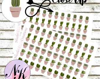 55 succulent Stickers, Stickers, succulent sticker, use with Erin Condren Planner(TM), Happy Planner, planner, Sticker, Traveler Notebook