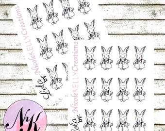 Exclusive custom character Stickers, 12 Stickers, Doctor sticker, check up stickers,use with Erin Condren Planner(TM), Happy Planner,Planner
