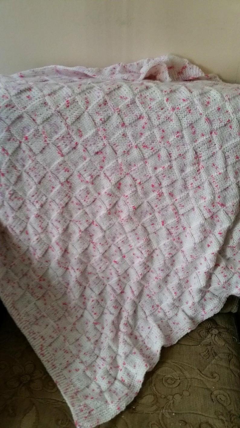 Baby Shower Present Crib Stroller Car Seat Knit Cover White Knit Baby Blanket Newborn Gift Idea Kids Soft Chunky Blanket