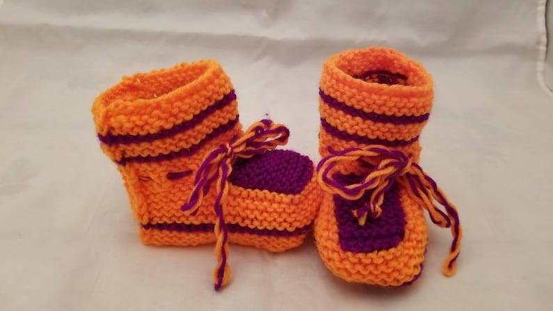 c482fde3b758 Hand Knit Baby Booties Unisex Baby Booties Newborn Baby