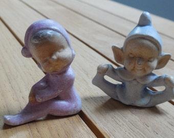 Vintage Elf small ceramic figurines