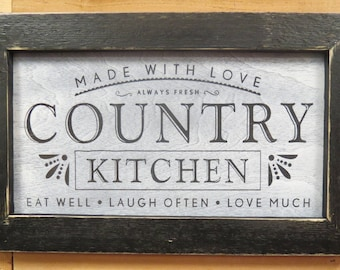 Country Kitchen Sign | Etsy