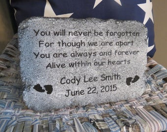 Memorial Stone, Personalized, Child, Infant Loss, Sympathy, Garden Stone, Grief, Miscarriage, Grave Marker, Keepsake, Cemetery, Death
