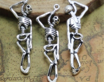8 RIP Headstone Charms Antique Silver Tone SC1144