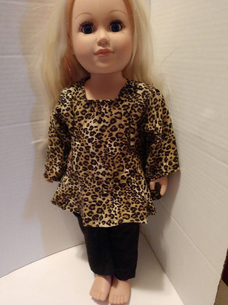 3eeea4e45c5 Made for American Girl Dolls Cheetah dress top Black