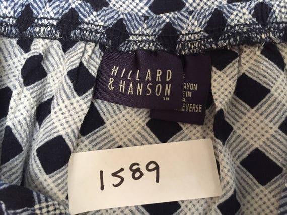 Vintage 90s Blue White Plaid Check Maxi Skirt Wom… - image 6