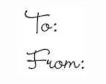 To From Rubber Stamp - 199W06