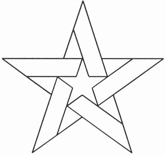 Plastic Stencil Five Pointed Star Choice Of 60 Or Etsy Extraordinary 5 Point Star Quilt Pattern