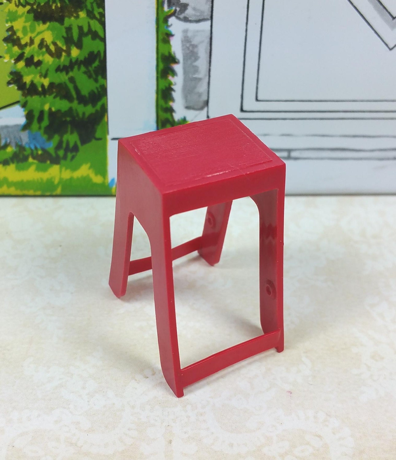 Miniature Step Stool Red Hard Amp Soft Plastic 3 4 Etsy