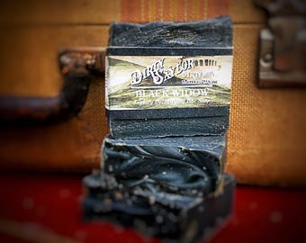 Black Widow Activated Charcoal Soap -  Cold Processed Soap, Handmade Soap, Vegan Soap, All Natural Soap, Artisan Soap, Homemade Soap, Acne