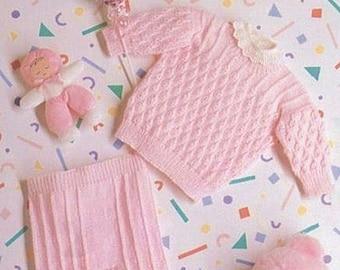 Prem Baby or Doll Knitting Pattern PDF Tiny Sweater & Leggings