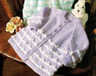 Baby Knitting Pattern pdf 2 Matinee Coats