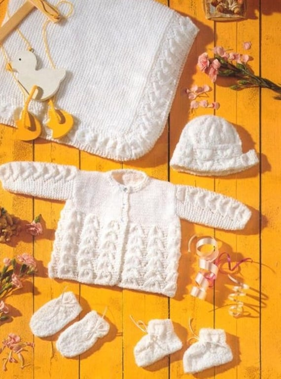 Premature Baby Knitting Pattern Pdf 12 20 Pram Set And Etsy