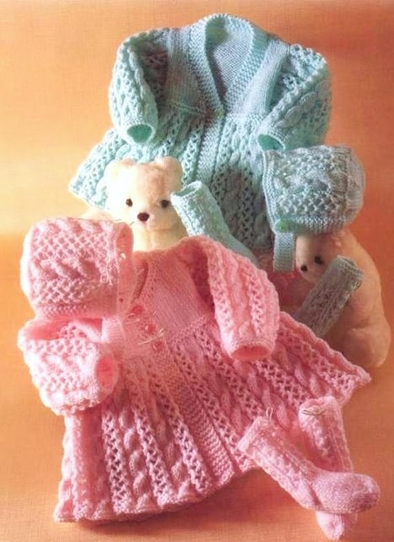 Knitting Pattern Pdf Premature Baby Or Doll Matinee Coat Etsy