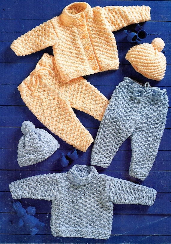 3 designs in Chunky// DK 766 Knitting Pattern for Baby Pram Covers