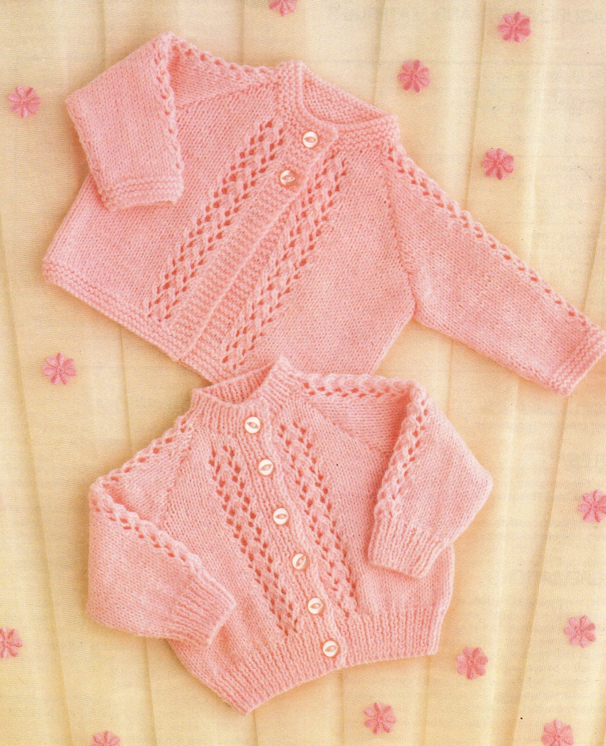 Baby Knitting Pattern QK or 4 ply Matinee Coat & Cardigan ...