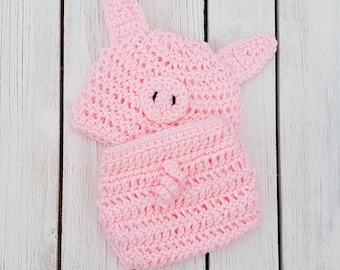 Crochet Pig Infant Outfit Crochet Swine Outfit Crochet Pig Infant Pig Farm Prop Photo Prop Animal Set Newborn Pig Pink Pig Costume & Infant pig costumes | Etsy