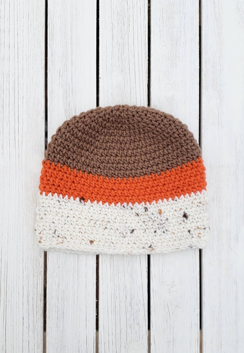 Unisex Crocheted Adult Striped Fitted Beanie, Ribbed Toque in Neutral  Colors, Simple Fall Hat, Mens Beanie, Hayward Crochet, Free Shipping