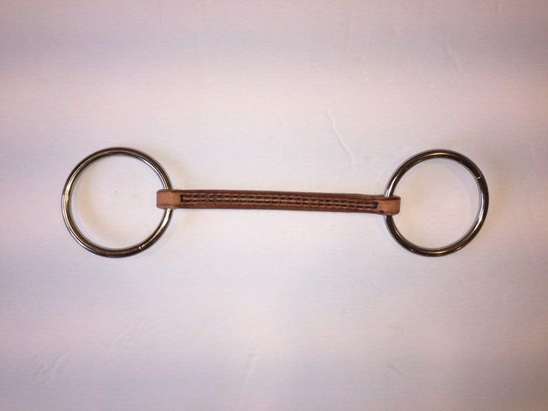 Leather O-ring Snaffle Bit Rounded