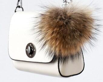 3e85c09eb8c0 Bag Charm Fur Keychain Pom Pom Keychain Fur Bag Charm Fur Ball Keychain  Pompom Keychain Raccoon Fur Key Chain Pompom Bag Charm Large 3 sizes