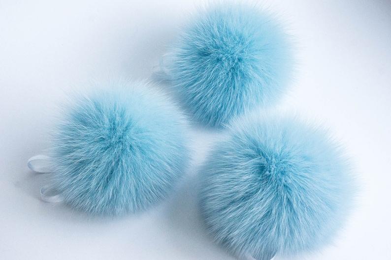 8d2b7b863cd Real Fur Pom Pom Hat Fox Fur Pompom Fur Pompom Large Pom Poms