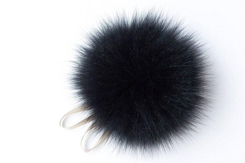 1354dc13049 Real Fur Pom Pom Hat Raccoon Pompom Fur Pompom Large Pom Poms