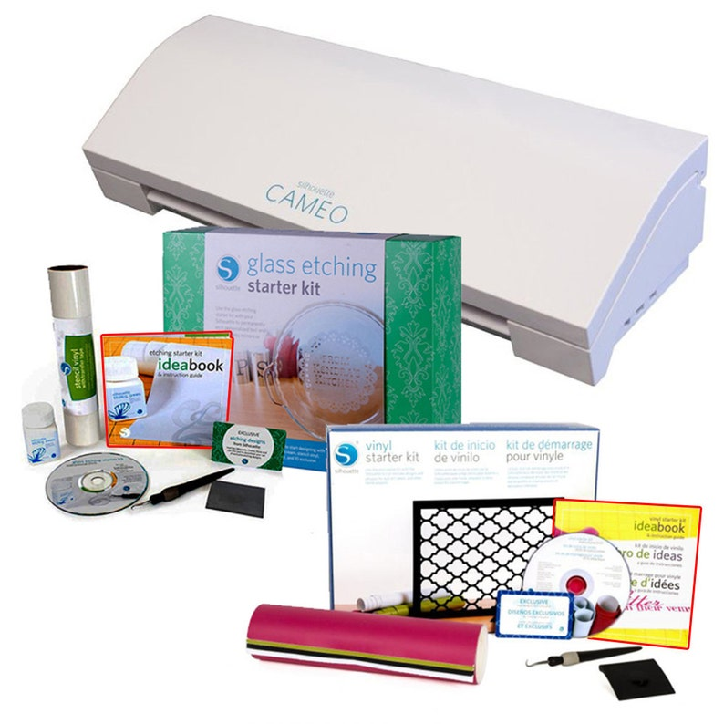 Silhouette Cameo 3 Bluetooth with Rhinestone and Vinyl Starter Kits