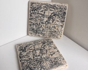 Map Stone Coasters