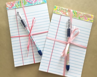 Lilly Pulitzer Notepad and Matching Pen