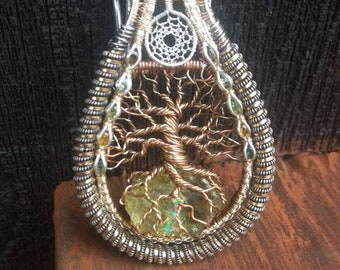 "Wire Wrapped Tree of Life pendant - ""Aisling"""