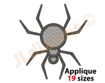 Spider Applique Design. Spider embroidery design. Embroidery design spider. Applique spider. Monogram spider. Machine embroidery design.