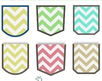Pockets Applique Design Set. Pocket embroidery design set. Fake pocket embroidery. Real pocket applique. Pocket. Machine embroidery design