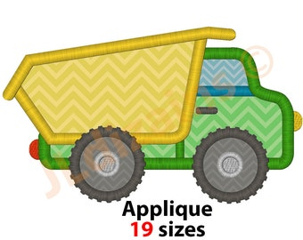 Dump Truck Applique Design. Dump truck embroidery Embroiery dump truck Applique design dump truck Truck embroidery Machine embroidery design