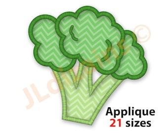 Broccoli Girl embroidery art