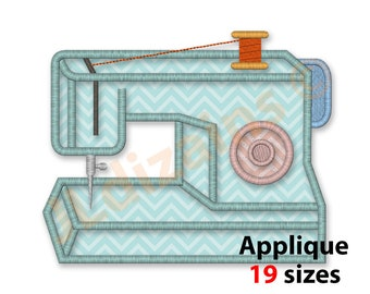 Sewing Machine Applique Embroidery Design. Sewing machine applique design. Sewing machine embroidery design. Machine embroidery designs