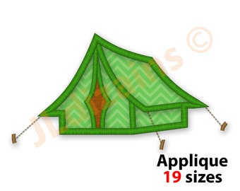 Camping Tent Applique Design. Tent embroidery design. Camping applique design. Embroidery designs camping. Tent. Machine embroidery design