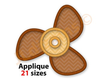 Propeller Applique Design. Propeller embroidery design. Embroidery propeller. Applique propeller. Airplane. Ship.  Machine embroidery design