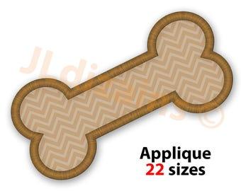 Dog Bone Applique Design. Dog bone embroidery design. Embroidery design bone. Applique design bone. Dog bone. Machine embroidery design.