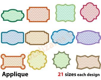 Frame Applique Design Set. Frame embroidery design set. Embroidery applique frame. Frame applique Embroidery frame Machine embroidery design
