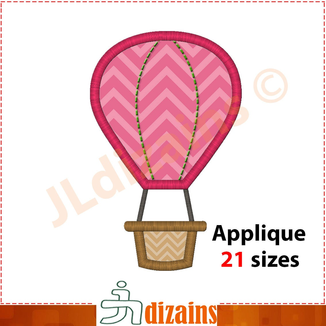 instant download Hot Air Balloons designs for embroidery machine